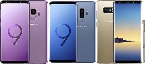 Samsung Galaxy S9 dan S9 Plus vs Note8 Harga dan Spesifikasi