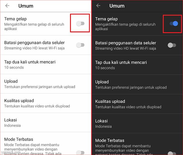 Cara Merubah Tampilan Youtube Menjadi Hitam di Android
