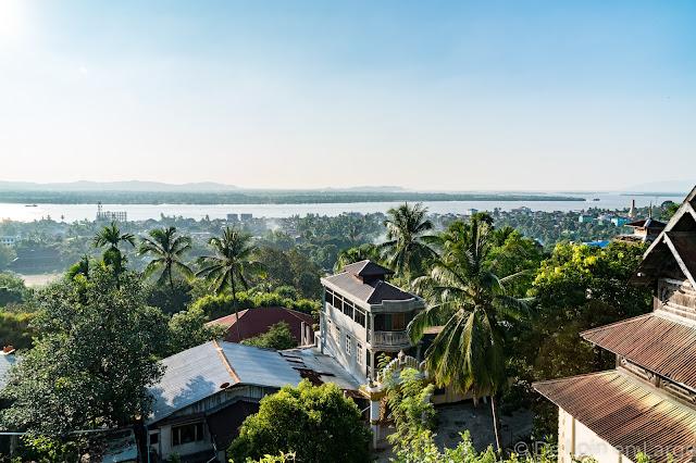 Vue de la Colline des Pagodes - Mawlamyine - Birmanie - Myanmar