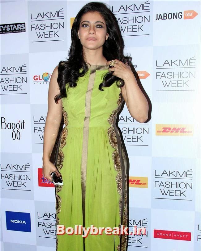 Kajol, Bollywood Actresses at Manish Malhotra Show at LFW Summer Resort 2014