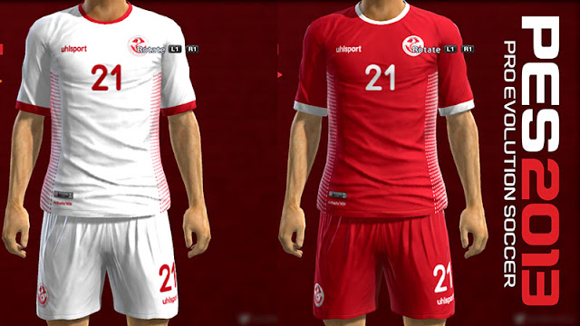TUNISIA KITS WORLD CUP 2018 FOR PES 2013