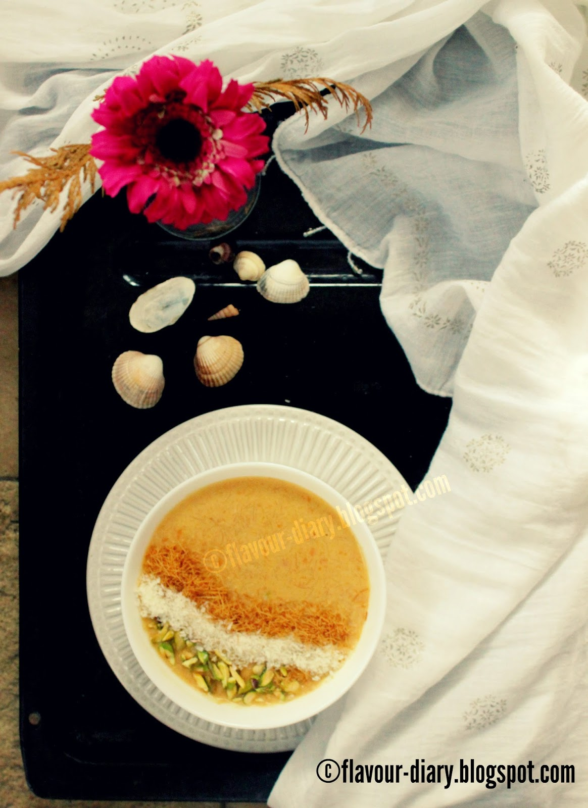 carrot coconut milk kheer pudding recipe