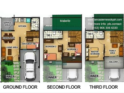 Mabelle 3 Storey Townhouse Zone 2 - Lancaster New City Floor Plan