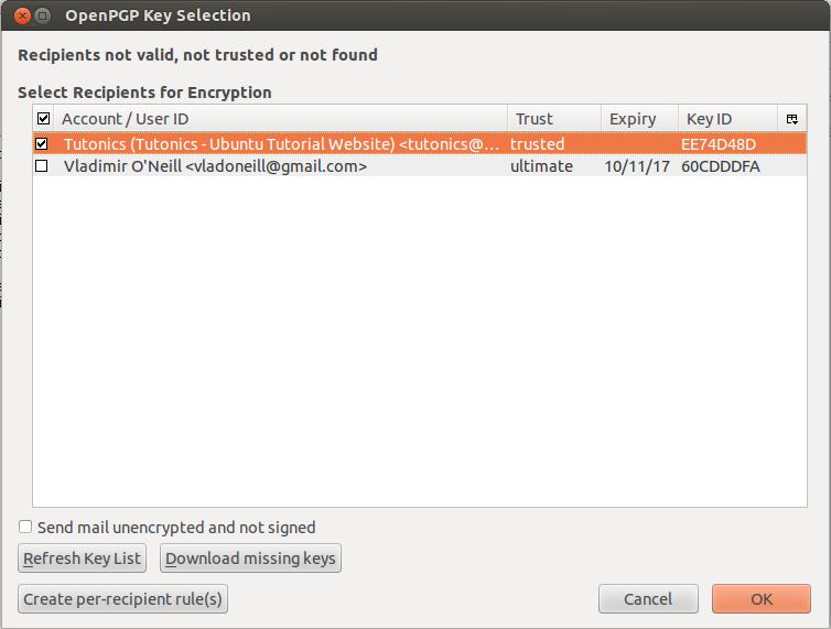 Encrypt & Sign Email Via Thunderbird Mail Using GPG - Tutonics