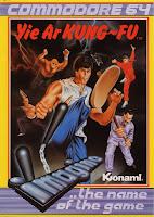 Cubierta del videojuego: Yie Ar Kung-Fu (Commodore 64), 1985