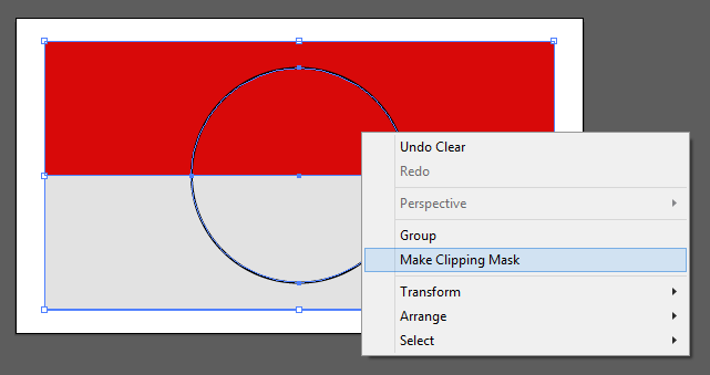 Klik kanan dan pilih Make Clipping Mask