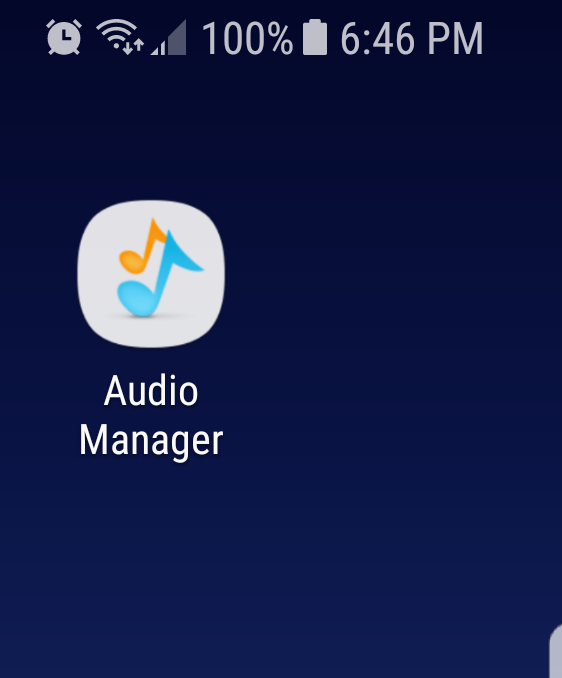 Audio manager app for hide files