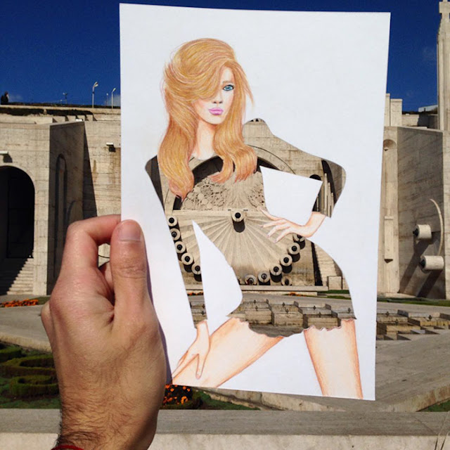 beautiful cut-out dresses with everyday object