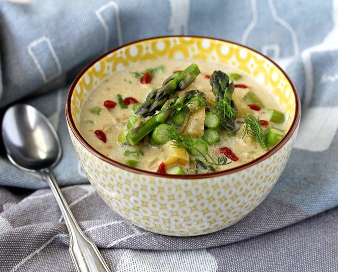 Asparagus-Potato Chowder with dill