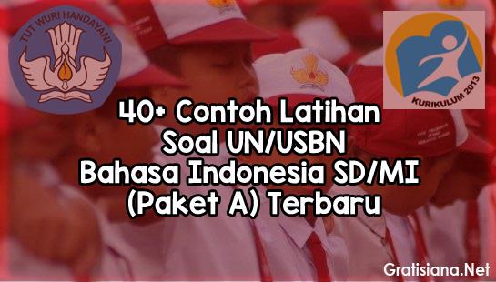 40 Contoh Latihan Soal UN/USBN Bahasa Indonesia SD/MI (Paket A) Terbaru