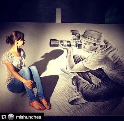 Art Exhibitions in Russia - Бен Хайне Россия - Pencil Vs Camera - Карандаш против камеры 2015 - Ben Heine photos from Fans