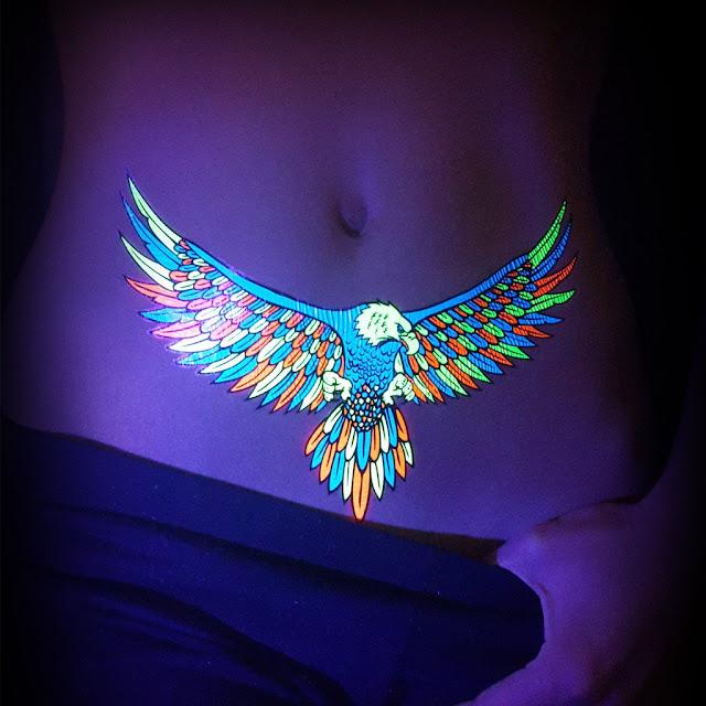 Hawk UV Tattoos or Black Light Tattoos