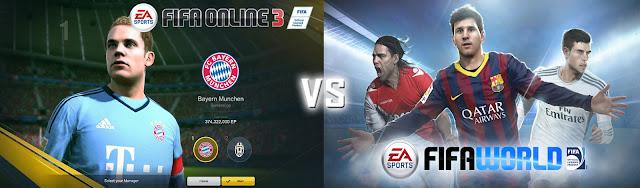fifa online 3 vs fifa world