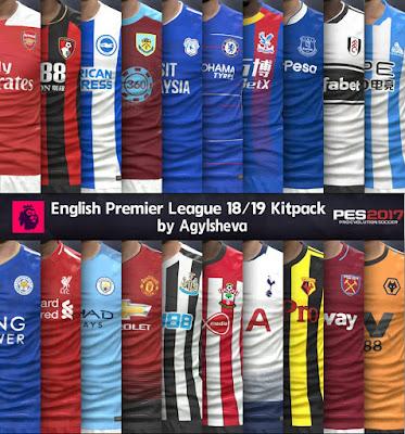 PES 2017 Premier League Kitpack by Agylsheva Season 2018/2019