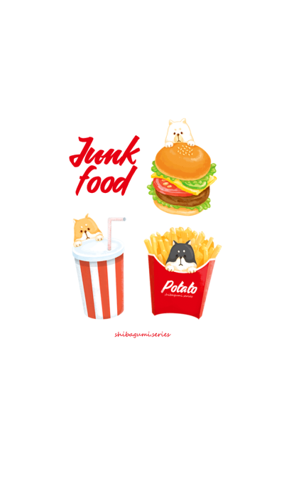 Shiba inu Junk food!