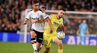 فالنسيا يتغلب على نادي فياريال في الجولة الخامسه عشر من الدوري الاسباني بهدفين لهدف