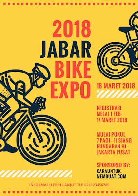 Contoh Desain Flyer Jabar Bike Expo 2018