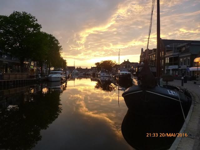 Lemmer Sonnenuntergang Kanal