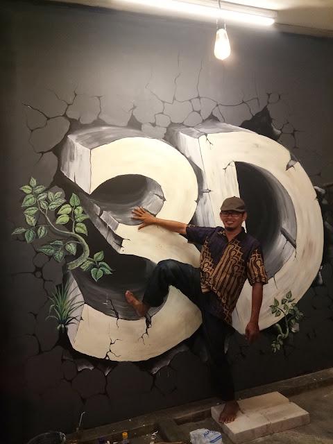 jasa lukis dinding mural 3 D  jakarta murah