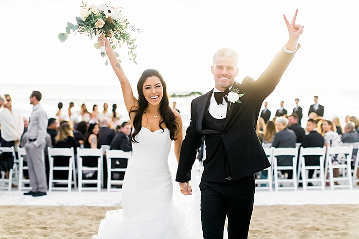 Elegant And Classy Malibu Winter Beach Wedding At The