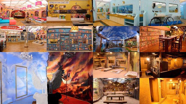 The beautiful and creative interior and exterior of Bigg Boss house