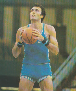Dino Meneghin in 1980, the year his Olympic silver medal followed a domestic treble