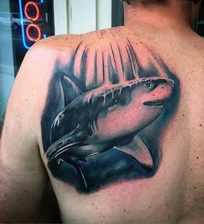 ลายสักปลาฉลาม