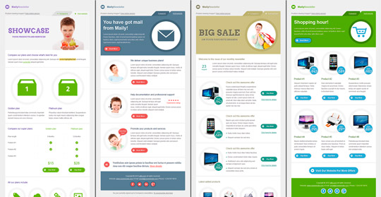 Maily Newsletter: 20 HTML Email templates para ofrecer productos y servicios