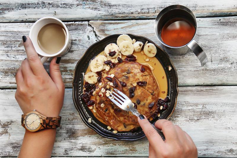 Sweet Potato Pancakes (Gluten Free) and  JORD WOOD WATCHES.