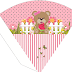 Girly Bear Eating Watermelon: Free Printable Party Kit.