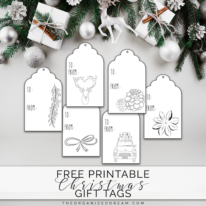photograph relating to Printable Christmas Gifts known as Totally free Printable Xmas Reward Tags - The Ready Aspiration