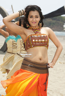 Trisha Latest Item Song in Choli Ghagra Cute Expression Spicy Pics