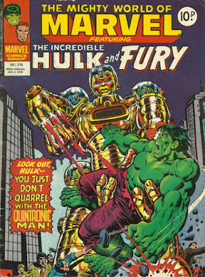 Mighty World of Marvel #275, the Quintronic Man