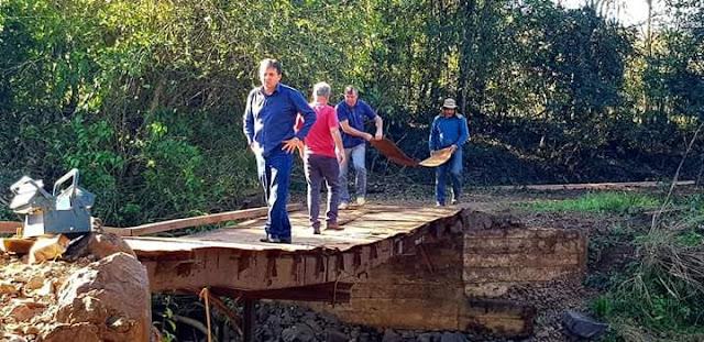 Iretama: Bratac acompanha obra de construção da Ponte do Rio Laranjeiras
