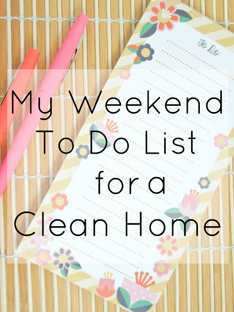 8 things to do to clean your home this weekend!
