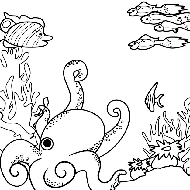 Sea World Coloring Pages Source Multilingualbooks