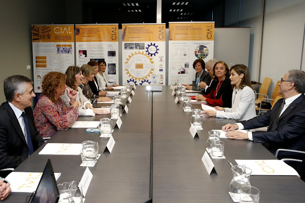 Queen Letizia of Spain visited the Research Institute of Food Science at the Autonoma University