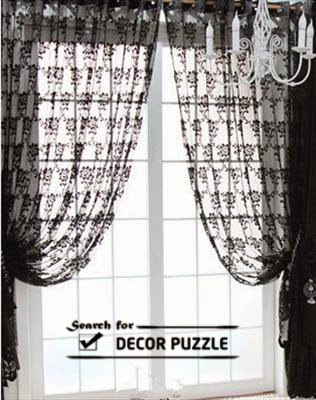 French lace curtains, black window curtains designs