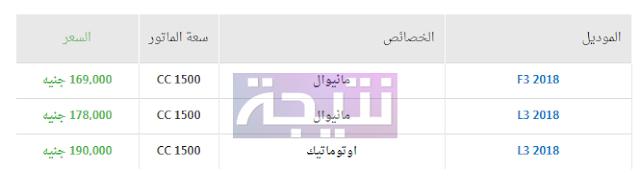 أسعار سيارات بى واى دى 2018 في مصر