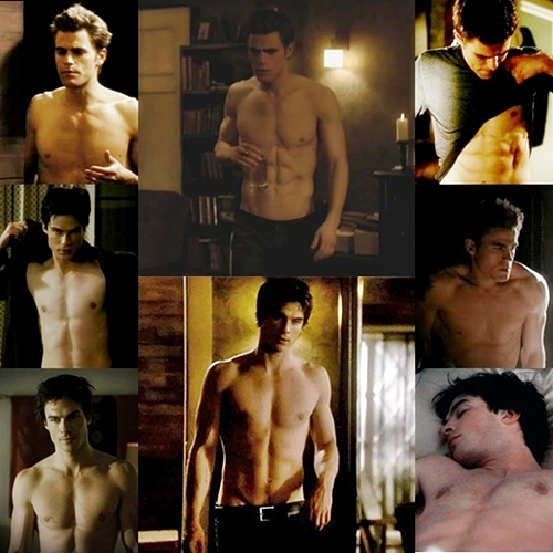 Shirtless Vampire Diaries