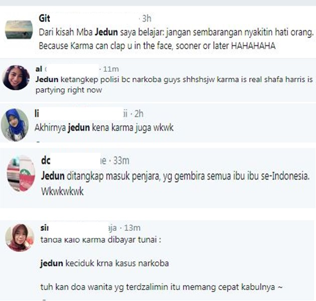 Komentar Netizen Kasus Jennifer Dunn - Twitter