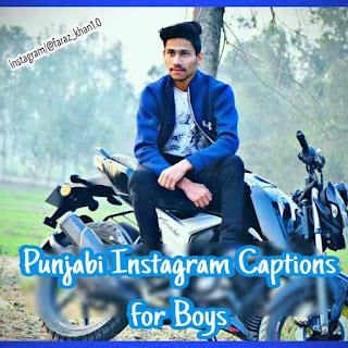 Punjabi instagram Captions for boys