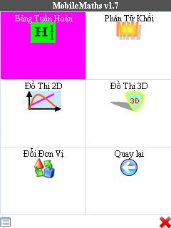Giao diện mobile maths