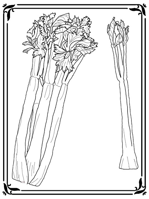 celery printable coloring pages