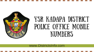 YSR kadapa District Police Office Mobile Numbers -