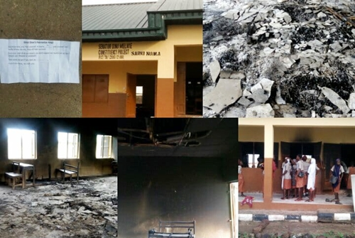 Hoodlums Burn Down Schools To Be Commissioned By Dino Melaye