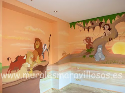 Decoracion de las paredes en los cuartos de los ni os - Decoracion de paredes de dormitorios ...