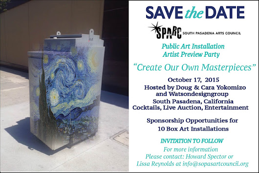 "Preview Party & Fundraiser - ""Create Our Own Masterpieces"" October 17, 2015"