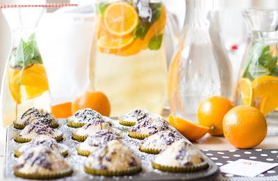 Orangen-Minz-Eistee