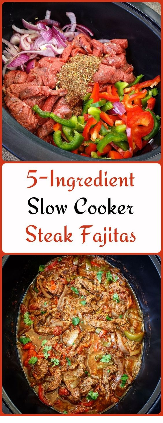 5-Ingredient Slow Cooker/Instant Pot Steak Fajitas